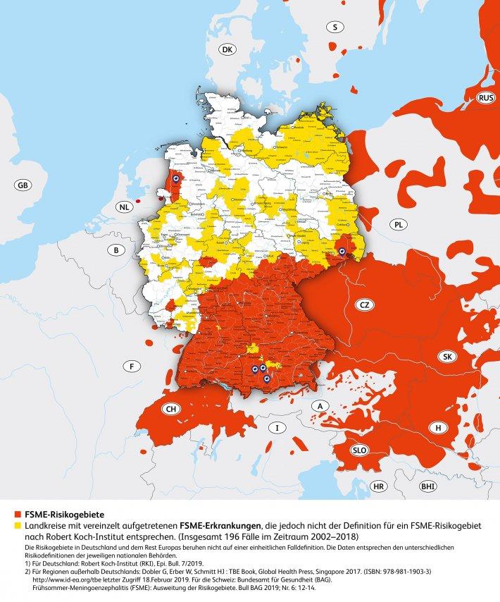 Fsme Risikogebiete In Deutschland Und Europa Heuteraus